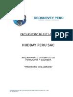 PRESUPUESTO HUDBAY PERU SAC (NORSEMON) PROY CHILLOROYA N`111