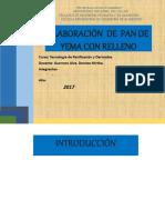 Elaboración de Pan DEN YEMA CON RELELNO 2017informe de Panes
