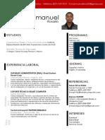 Curriculum Vitae Emmanuel Rosario