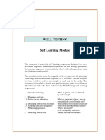 Well Testing Learning