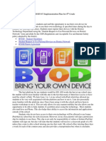 BYOD:BYOT Implementation Plan for 8th Grade