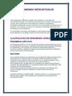 FENOMENOS INTELECTUALES