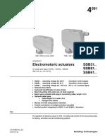 Actuator Siemens SSB