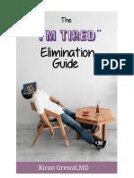 Tiredness lead magnet design