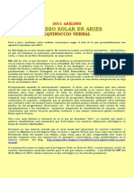 2011 Análisis Astrológico del Ingreso Solar en Aries