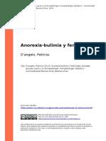 Doangelo, Patricia (2014). Anorexia-bulimia y Feminidad