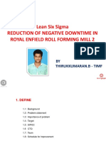 Six Sigma - Reduction of Downtime - RE Mill-2 -New