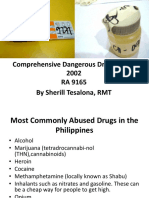 1. Comprehensive Dangerous Drugs Act of 2002 Lecture