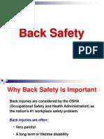 LESSON #9 Back Safety