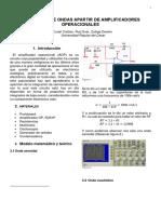 Generador de onda a partir de amplificadores operacionales