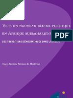 Vers un nouveau régime politique en Afrique subsaharienne