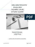 Functional Writing GUIDELINES
