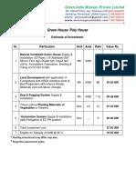 1 Acre Greenhouse Cost Estimate