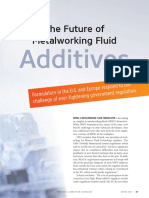 The Future of Metalworking Fluid aditivies in india