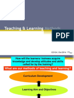 Choosing Pedagogical and Interactive Training Methods