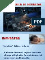 child in incubator