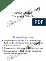C Language Quiz(3) PPT