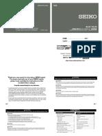 Seiko Dive Watch SLA033 Manual