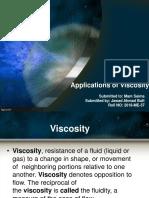 Applications OfViscosity