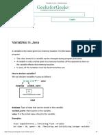 Variables in Java - GeeksforGeeks