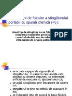 Instructiuni de Folosire a Stingatorului Portabil Cu Spuma