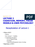 Lecture 2 - Cognition, Memory, Focus Models & User Psychology - Edited