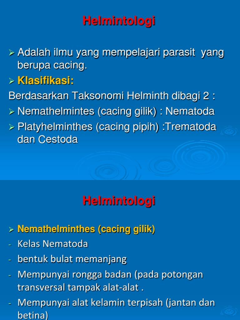 Helminth féregkészítmények - Memória a helminthiasis megelőzésére