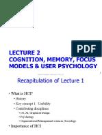 Lecture 2 - Cognition, Memory, Focus Models & User Psychology - Edited