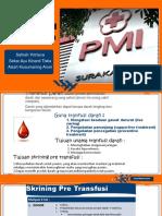 Seleksi Awal Donor Darah