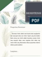 Resistensi