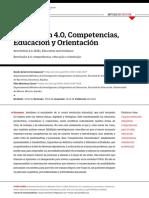 Revolución 4.0, Competencias, Educación y Orientación