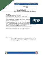 Friction Activity Sheets (1)
