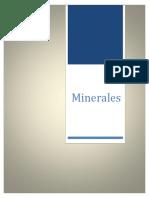 Listado de Minerales