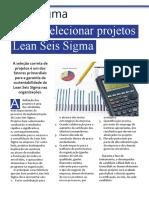 Como selecionar projetos Six Sigma