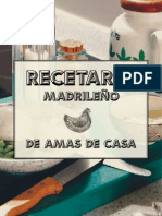 Recetario Madrileno Amas de Casa Gastrofestival2019