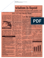 1997-02 When Wisdom is Liquid Quote by Vishvjeet Kanwarpal CEO GIS-ACG in the Economic Times Mumbai