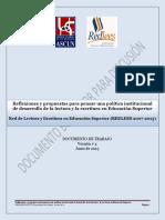 Política Institucional Para El Desarrollo de La Lectoescritura