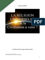 LA RELIGION UNIVERSELLE DANS LA CIVILISATION A VENIR