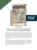 Juan José Vega - Guaman Poma, Precursor