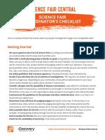 Sfc Coordinator Checklist