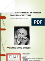 Frank Lloyd Wright and Walter Gropius Architecture (1)