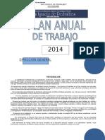 Plan Anual de Trabajo 2014 Isip
