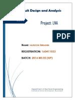Haroon Ibrahim Project LNA