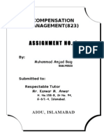 2nd Assignment of Compensation Management-- Amjad Baig