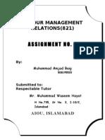 2nd Assignment of LRM -- Amjad Baig