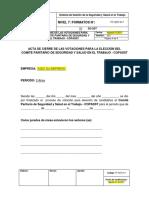 Formato de Cierre de Las Votaciones Elección Del COPASST