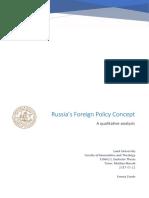 Russia s Foreign Policy Concept - A Qualitativ