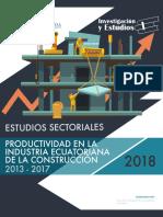 Productividad en La Industria Ecuatoriana de La Construccion 2013-2017