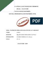 Mariano Pacheco Matriz de Operacionalizacion de Las Variables