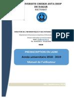 Preinscription Guide Utilisateur v2018